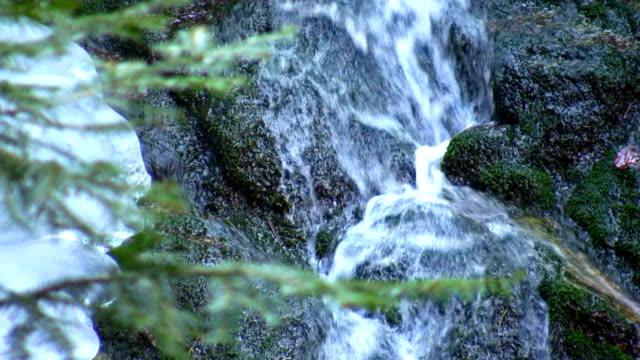 HD: waterfall in the winter
