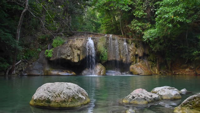 Waterfall in Tropical forest Paradise