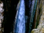 Waterfall tilt down, Autumn, Parque Natural Los Alcornocales, Andalusia, Southern Spain