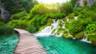 STEADYCAM: Waterfalls in Plitvice Lakes National Park, Croatia