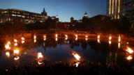 Waterfire, an outdoor art event in Providence Rhode Island