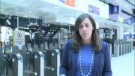 Waterloo Station platforms reopen after expansion INT Reporter to camera