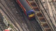 Waterloo Station platforms reopen after expansion LIB / TX AIR VIEWS / AERIALS derailed train