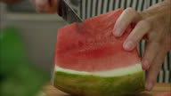 Watermelon on kitchen counter