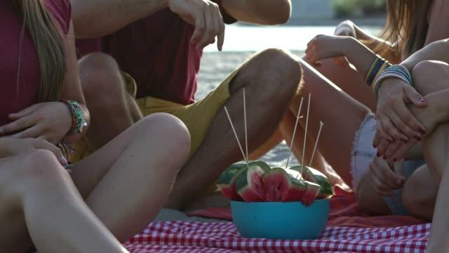 Watermelon on picnic