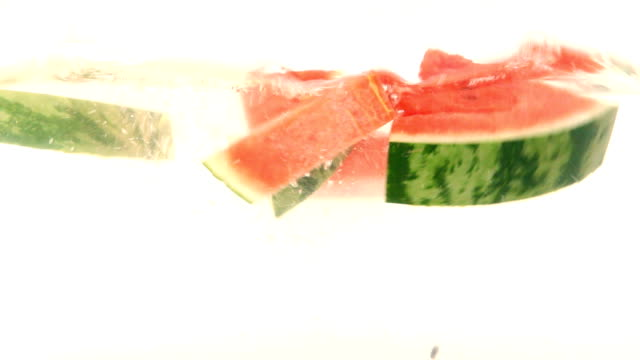 Watermelon splashing