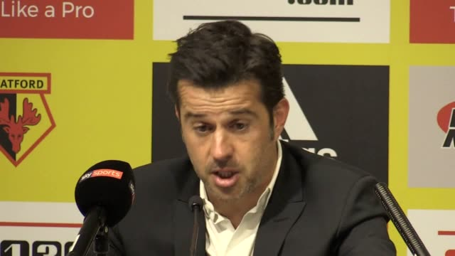 Postmatch press conference with Marco Silva who talks about his pride in the players and his future at the club