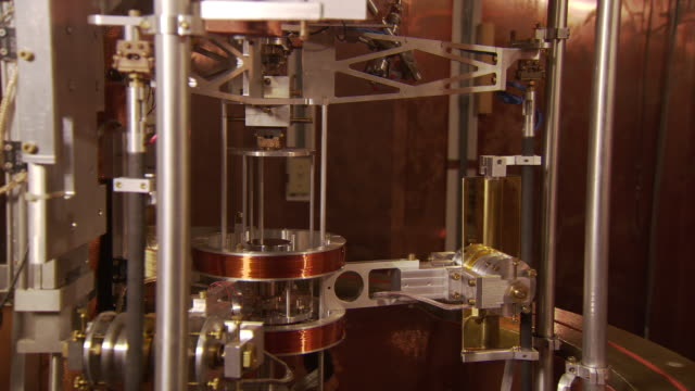 Watt balance machine in operation, housed at the National Institute of Standards and Technology, Gaithersburg, USA
