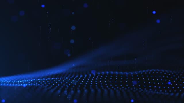Welle und Korpuskel, blaue Hintergrundfarbe
