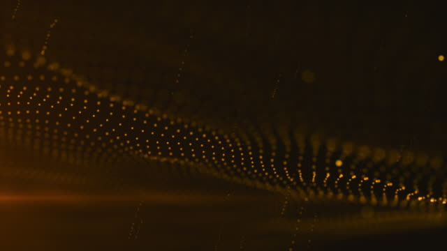 Welle und Korpuskel, gold Hintergrundfarbe