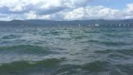 Wave mountain lake