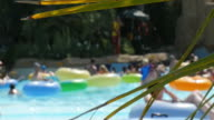 wave pool at a water park