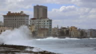 LS Waves break on the Malecon / Havana, Cuba