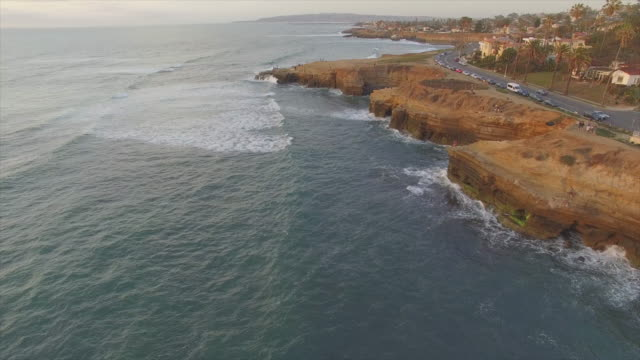 Waves crashing under the cliffs