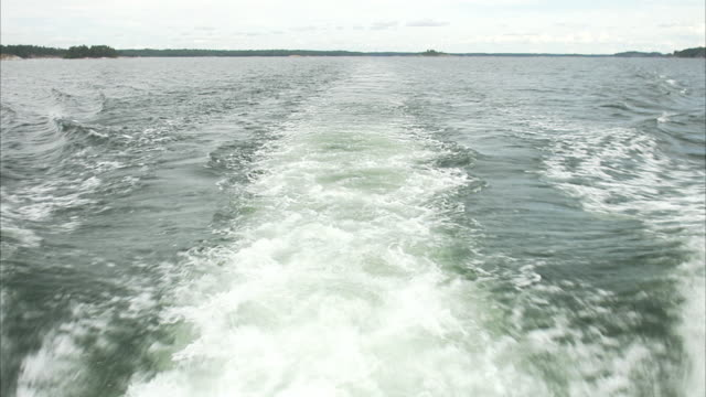 Waves from a boat Sweden.