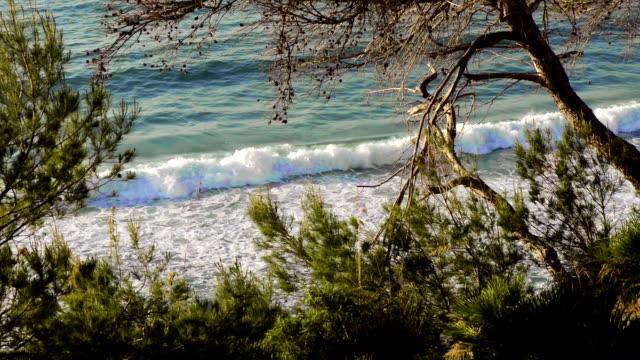 HD: Waves in a Mallorca beach