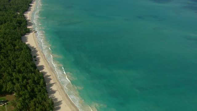 Waves lap the shore of Waimanalo Bay Beach Park on the southeast coast of Oahu.