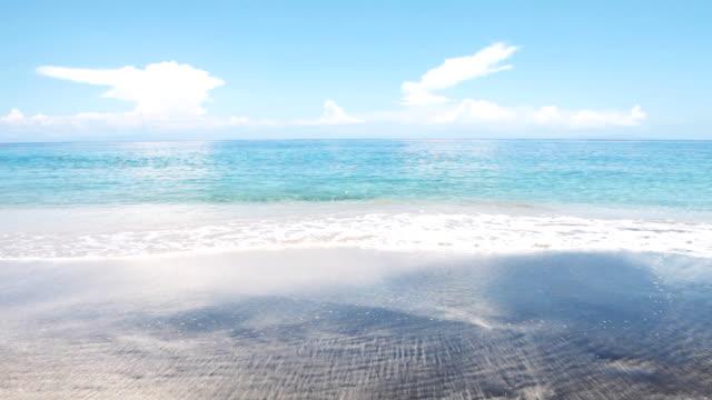 Waves on a tropical seashore.