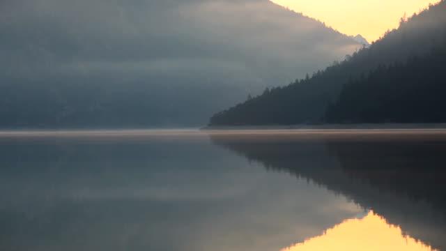 waves on the lake plansee, tirol, austria