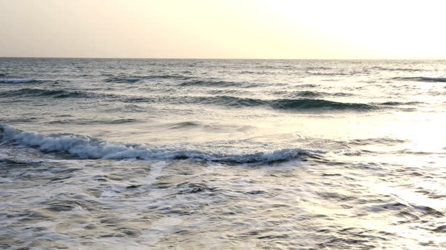 Waves roll across sea after storm