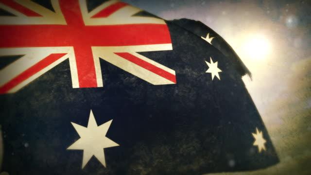 Winken Flagge-Australien