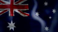 Viftande flagga i Australien, grungelook