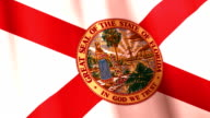 Waving flag of Florida