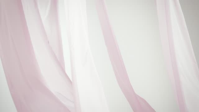 Waving silk curtain