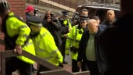 Wayne Rooney banned from driving for 2 years ENGLAND Greater Manchester Stockport Magistrates' Court EXT Wayne Rooney out of car on arrival at court...