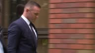 Wayne Rooney banned from driving for 2 years ENGLAND Greater Manchester Stockport Magistrates' Court EXT Wayne Rooney leaving court building with...