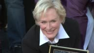 Glenn Close Receives a Star on the Hollywood Walk of Fame Los Angeles CA 1/12/09