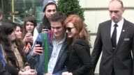 We spotted a beautiful and friendly as usual Jessica Chastain taking time for fans outside her hotel in Paris Paris France on Monday March 9 2015