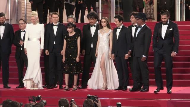 We spotted Actors Byung Heebong Giancarlo Esposito Steven Yeun Tilda Swinton Ahn SeoHyun director Bong JoonHo actors Paul Dano Lily Collins Jake...