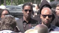 We spotted ASAP Rocky Karl Lagerfeld Pierre Niney Victor Cruz Xiao Dou Michael B Jordan Dwyane Wade and more arriving at the Dior Homme Menswear...