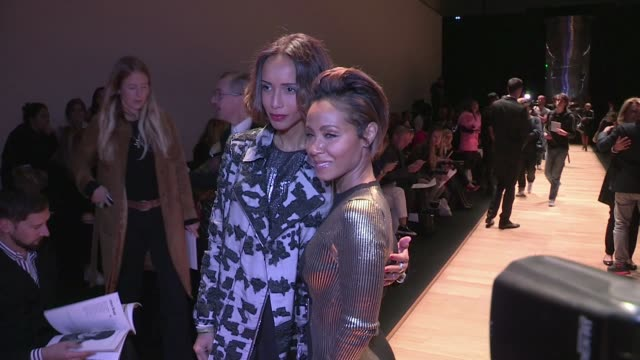 We spotted Jada Pinkett Smith Sonia Rolland Gabrielle Lazure and her daughter Emma Hofit Golan and more attending the Guy Laroche Spring Summer 2016...