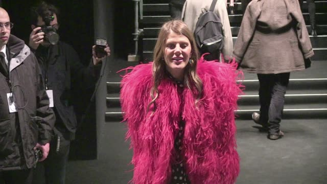 We spotted the guest arriving at the Saint Laurent Fall Winter 2015/2016 Fashion Show held at the Carreau du Temple in Paris Pierre Berge and Betty...