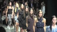 We spotted the Last Round of models and the Designer salute at Alexander Wang Fashion Show during the 2012 Spring Summer Fashion Week in New York...