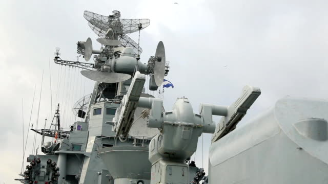 weapons of Russian warship