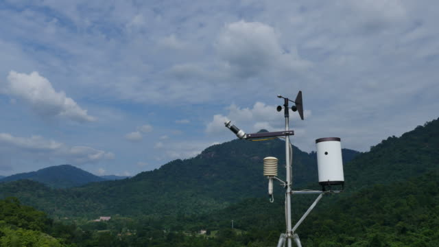 Weather station at high mountain.