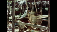 MONTAGE Weaving and dying twine into mats in Ceylon