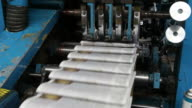 Web Offset Printing Press Folding a Daily Newspaper