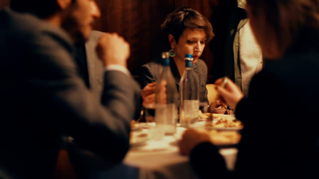 Wedding celebration event: at dinner