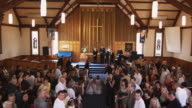 T/L WS HA Wedding ceremony in traditional Christian church, Auckland, New Zealand