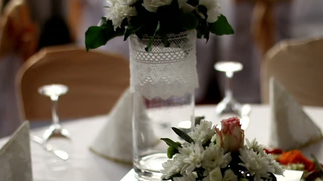 Wedding decorated style with a table and accessories