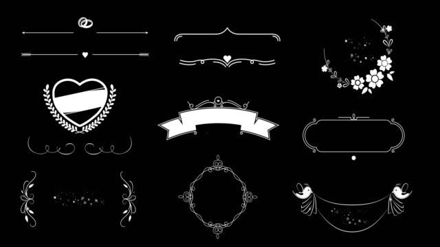 Bruiloft Decoratie animatie