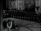 Wedding guests arrive at the Cathedral of York including Douglas Fairbanks Jr Noel Coward Queen Elizabeth II Prince Philip Prince Charles Queen...