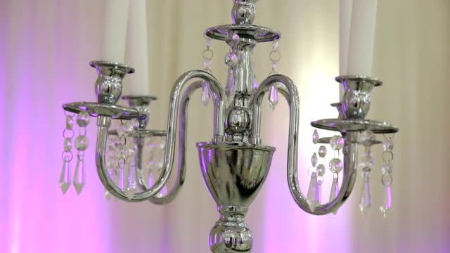 Wedding Reception Table Decor with candlesticks