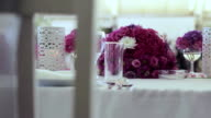 Wedding table decoration with flowers
