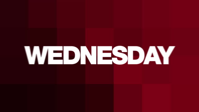 Wednesday Text Animation