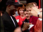 Aston Villa v Manchester United LIB ENGLAND Manchester DAY Yorke signing autographs